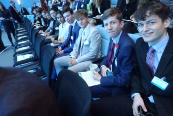 Collyer's students at the Leadership Symposium