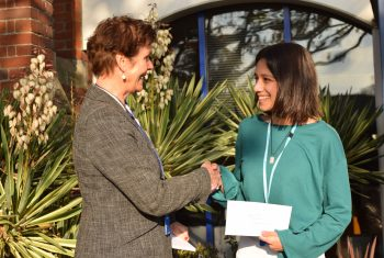 Sally Bromley with Sejal Patel