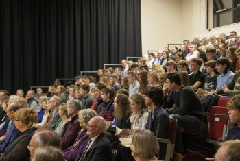 Audience in the Duckering Hall