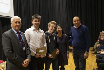 Dr David Skipp with Mercers' Exhibition Prize winners (2)