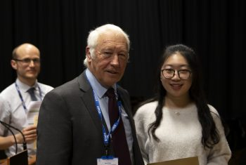 Dr David Skipp with Xinming Zhang, who won the Chris Clementi Music Prize.