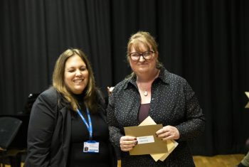 Sally Kent with Hayley Maxwell (Excellence in Access winner)