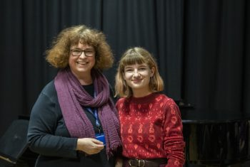 Susie McAlister with Isobel Hall (Outstanding Contribution to the Arts winner).