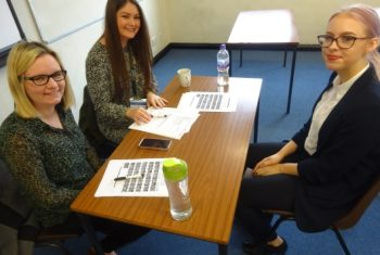 The mocks gave students a fantastic opportunity to develop interview skills