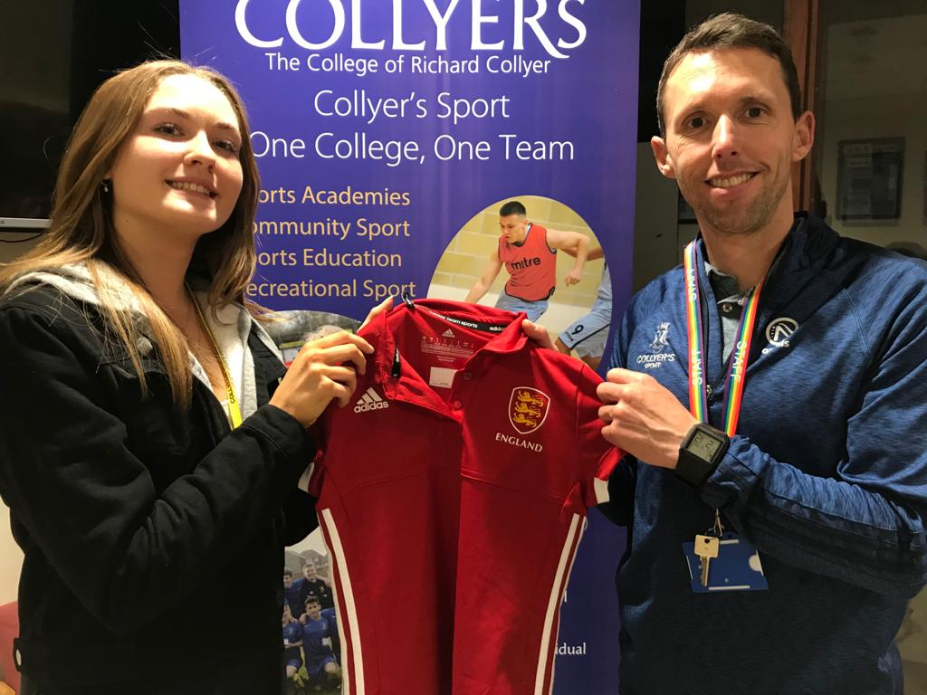 England Call Up For Collyer's Student!
